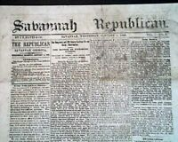Rare SAVANNAH Yankee Occupation Post Confederate FALL 1865 Civil War Newspaper
