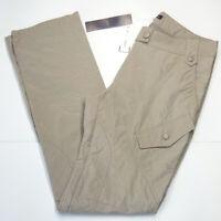 Women's trousers size S 30 in. straight casual semi-waterproof cargo beige SH