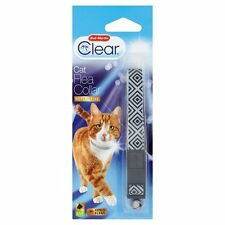 Bob Martin Flea Clear Reflective Monochrome Cat Flea Collar  Bell & Safety Clip