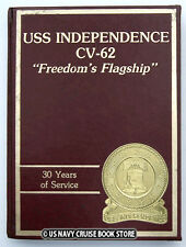 USS INDEPENDENCE CV-62  1988-1989 30th ANNIVERSARY CRUISE BOOK