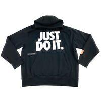 Nike Sportswear Men's Just Do It Black Pull Over Fleece Hoodie BV5109-010 Size M