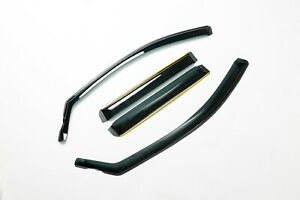 FRONT AND REAR 4PCS TINTED WIND RAIN DEFLECTORS SHIELD FOR VOLVO XC90 IE33