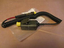 Clansman PTT Pressel switch and cable. GREEN ANR TYPE USED