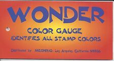 Wonder Color Gauge Identifies Colors of All U.S. Stamps