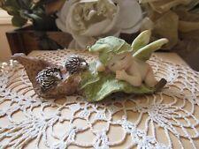 Fairy Garden Sleeping Fairy Baby Figurine with Hedgehogs Top Land Trading New!