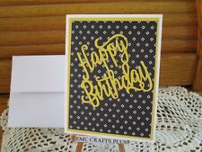 HAPPY BIRTHDAY~ HANDMADE GREETING CARD #emc90~