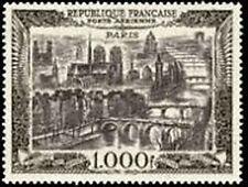 """FRANCE TIMBRE STAMP AVION N° 29 """" VUE DE PARIS 1000F """" NEUF XX TTB"""