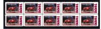 TOMMI MAKINEN RAALY CAR STRIP OF 10 MINT VIGNETTE STAMPS 2