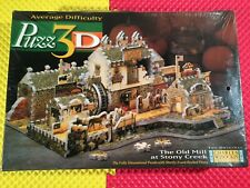 Vintage 1998 Charles Wysocki's 3D Puzzle The Old Mill at Stoney Creek New Sealed