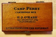Vintage Camp Perry Cartridge Empty Box Pj O'Hare Everything For Rifleman Ammo
