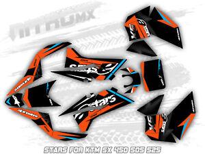 NitroMX Graphic Kit for KTM SX 450 505 525 ATV QUAD Decals Design Sticker