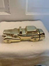 Vintage Used Avon Cadillac Solid Gold After Shave Collector Bottle
