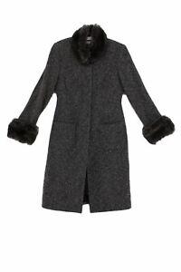 Paddy Campbell Women's Coat 12 Grey, Blend - cotton, viscose, wool