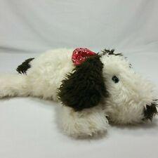 Build A Bear Plush Shaggy Dog Soft Toy  Puppy Floppy Long Hair White Brown Flat
