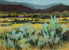"""B Williamson """"Taos Valley, Summer '92"""" Original Oil Painting on board New Mexico"""