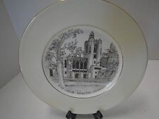 Wedgwood The LIbrary Firestone Collector Plate The Chapel Engraved Bone China
