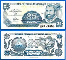 Nicaragua 25 centavos 1991 Serie Ae Central America Cordoba Free Ship World