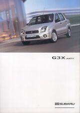 Subaru G3X Justy Prospekt 9 03 brochure 2003 Auto PKWs Autoprospekt Japan Asien
