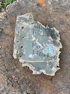 WW2 Original Destroyed US Plane Piece, From Battle Of Kurland