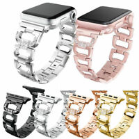 Stainless Steel Bling Diamond Bracelet iWatch Band Strap Apple Watch Series 4~1