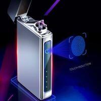Double Plasma Arc Lighter Windproof Electronic USB Recharge Cigarette Smoking