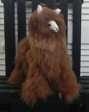 """NEW 100% Baby Alpaca 11"""" Teddy Llama Gorgeous Cuddly and Soft – Brown PERU"""
