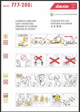 Safety Card / Lauda Air / Boeing 777-200IGW / 2005