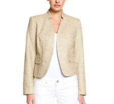 Calvin Klein Suit Separates Blazer Sz 2 Aloe Beige Tweed Career Jacket