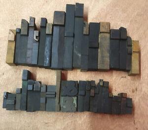 Vintage Letterpress Wood Printing Blocks (Punctuation Etc)
