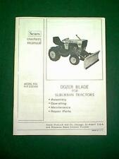 SEARS CRAFTSMAN SS/16 DOZER BLADE SNOW PLOW # 917.253360 OWNER WITH PARTS MANUAL