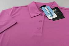 Rukka Short Sleeve Polo Shirt Cool Max Breathable Moisture Wicking Mauve M L XL