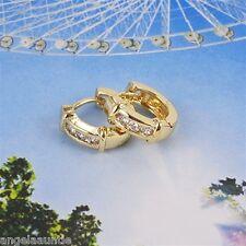 18K Yellow Gold Filled CZ Hoop Earrings (E-199)