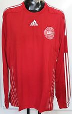 399df902d9d DENMARK 2008/09 PLAYER ISSUE L/S HOME SHIRT BY ADIDAS SIZE MEN'S XL
