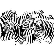 "Zebra - Vinyl Wall Decal / Sticker [Animals 6] 15""x15"""