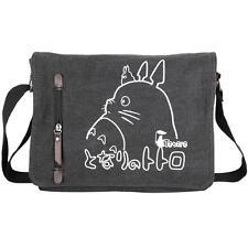 Anime Totoro Black Canvas Messenger Shoulder Bag Satchel Cosplay School Bag