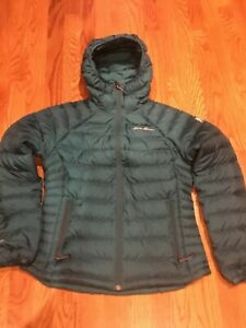 Eddie Bauer Jacket PXS PETITE XS First Ascent 800 Goose Down Green Hood Puffer