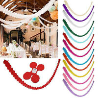 3M Paper Garland Bunting Banner Birthday Wedding Party Hanging Decoration Charm