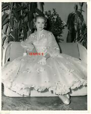 """GRACE KELLY Vintage Original Photo 1956 """"HIGH SOCIETY"""" Rare Full Gown DBLE WT"""