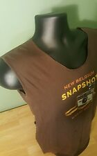 NEW BELGIUM SNAPSHOT WHEAT BEER T SHIRT BROWN SIZE L *CLEAN* cut off ladies