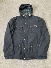Boys Carbrini Black Lightweight Hooded Jacket Coat Age 12-13 Years