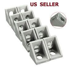 10PCS 20x20mm Gray Aluminum L Shaped Brace Corner Joint Right Angle Bracket