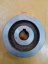 Double-groove Pulley 120mm shaft size 28mm cast iron belt motor compressor