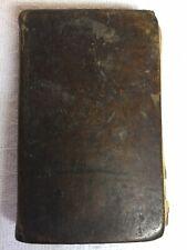 Antique 1808 Dublin Ireland Almanac With Wilson's Dublin Directory Leather Cover
