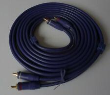 Cinchkabel 3m mit Masseleitung Cinch Kabel Stecker Audio Stereo HIFI