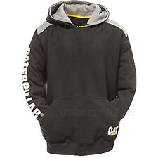 Caterpillar Sweatshirt Men CAT Logo Panel Hooded Fleece Zipper, Pullover Sweater