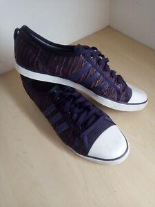 Rare Ladies adidas Sleek Series Purple Ruffled Trainers Uk 6 EU 39 1/3
