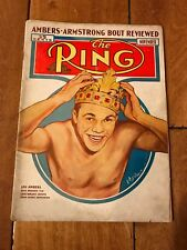1939 NOVEMBER RING MAGAZINE LOU AMBERS ON COVER
