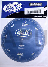 Motion Pro Engine Timing Degree Wheel Ignition Cam Blue Tool 08-0092