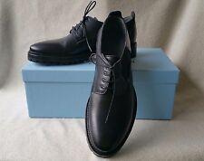 Lanvin 8 UK 9 US Plain Toe Platform Derby Oxford Black Leather Lace Up Shoes