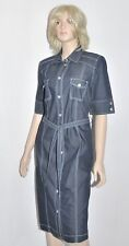 Cavita señora vestido Safari-style tamaño 38 gris-azul